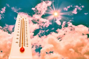 indoor climate in an office or home office