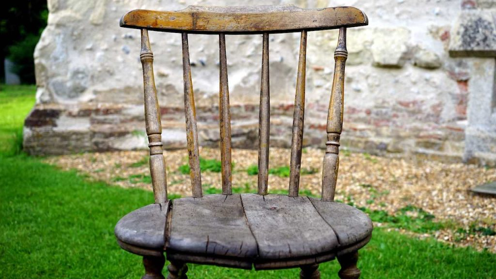 hard uncomfortable wooden chair