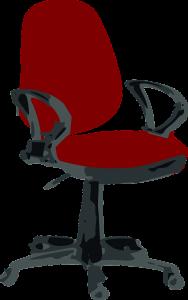 Standard office chair with cut foam