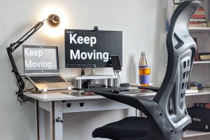 ergonomic accessories for the office, such as laptop stands or wrist rests and document holders